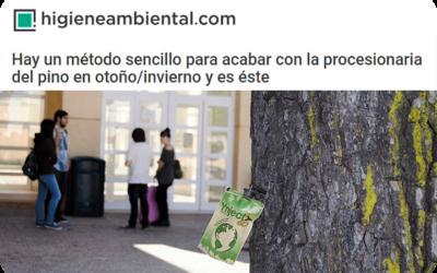 Higiene Ambiental se hace eco de la única alternativa legal contra la procesionaria