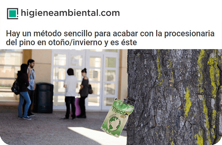 Higiene Ambiental se hace eco de la única alternativa legal contra la procesionaria